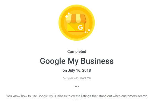Certificat Google MyBusiness Basics