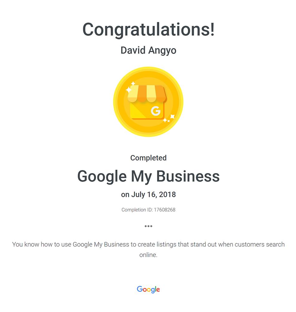 Google My Business Basics