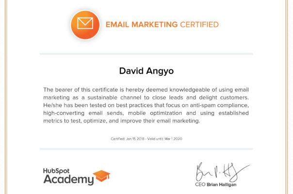 Hubpot Email Marketing Certification